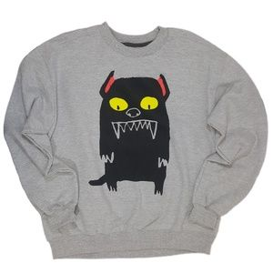 Forever 21 Sweaters - Scary Dog Sinister Pet 21Men Pulllover Sweater